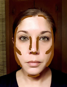NARS contour placement