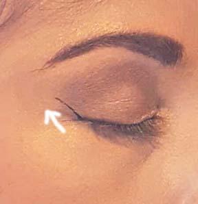 Winged Eyeliner Step 1