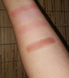 Juice Beauty Flash Luminizers swatches with flash 2