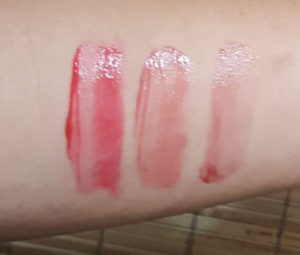 Pixi Cheek Gel (l to r) in Rosy, Natural, and Flushed