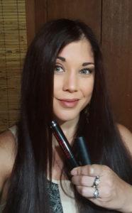 Wearing Buxom Big Tease mascara and Big & Sexy Bold Gel Lipstick in Matte Sinful Cinnamon