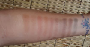 Pixi Its Julie Time eyeshadow palette swatches