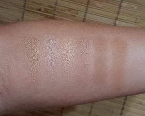 Pixi Maryam Maquillage palette swatches