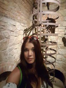 In the torture room at Castello di Amorosa