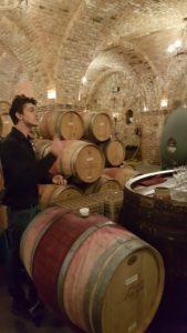 Our tour guide, Kristopher C., at Castello di Amorosa