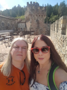 At Castello di Amorosa for a guided tour and tasting