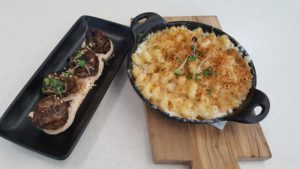 Lamb meatballs and lobster mac 'n'cheese at Cat Cora Kitchen