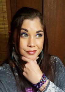 Wearing Buxom Metalix Lip Glide in Violet Spark