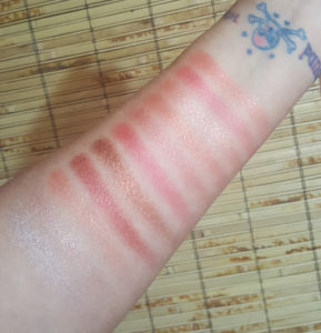 Swatches in direct light