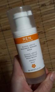 Ren Glycol Lactic Radiance Renewal Mask 1