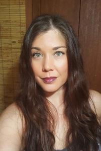 Wearing Merlot Lipsitck with Power Gloss