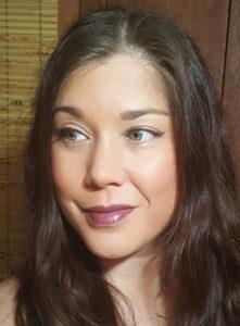 Wearing Ecco Bella Merlot Lipstick alone