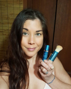 Wearing Colorescience Sunforgettable and Bronzing Perfector